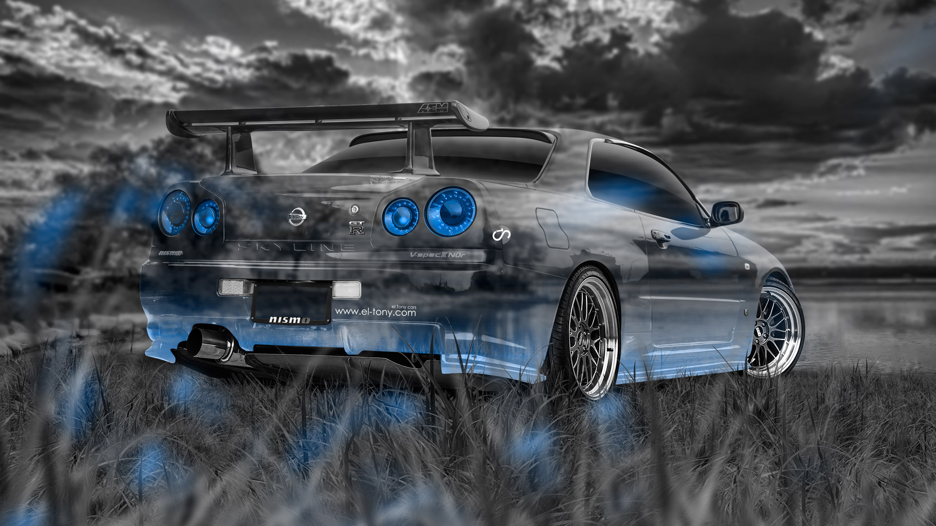 Perfect ... Nissan Skyline GTR R34 JDM Crystal Nature Car  ...