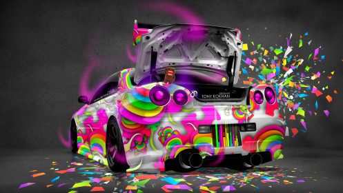 Nissan-Skyline-GTR-R34-Open-Trunk-JDM-Domo-Kun-Toy-Car-2014-Multicolors-HD-Wallpapers-design-by-Tony-Kokhan-[www.el-tony.com]