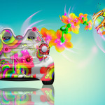 Smart Electro Fantasy Butterfly Flowers Car 2014