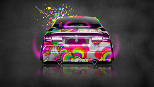 Subaru-Legacy-B4-JDM-Back-Domo-Kun-Toy-Car-2014-Multicolors-Photoshop-HD-Wallpapers-design-by-Tony-Kokhan-[www.el-tony.com]