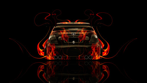 Toyota-Altezza-JDM-Back-Fire-Abstract-Car-2014-HD-Wallpapers-design-by-Tony-Kokhan-[www.el-tony.com]