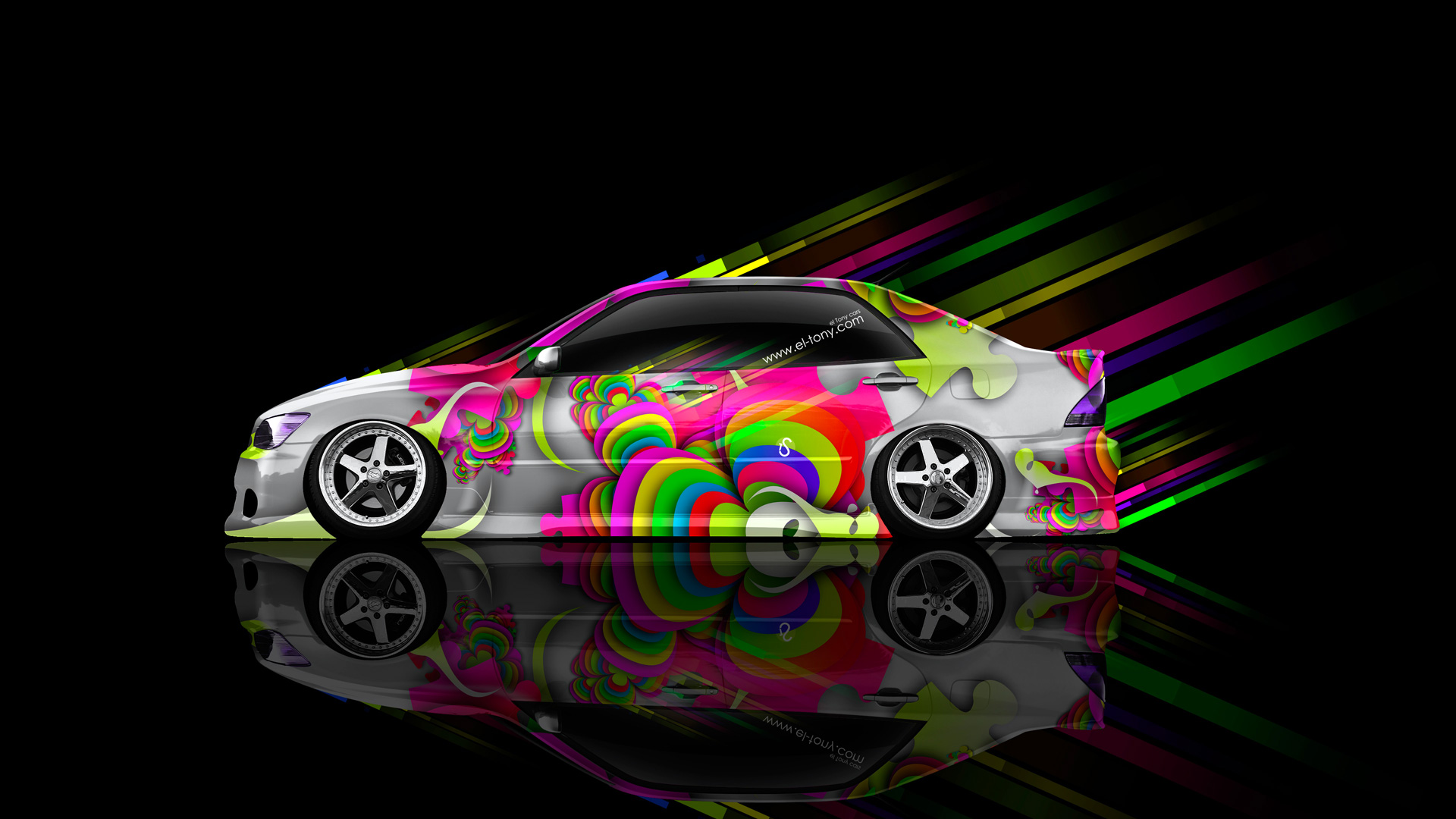 Elegant Toyota Altezza JDM Side Abstract Aerography Car 2014