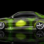 Toyota Altezza JDM Side Kiwi Aerography Car 2014