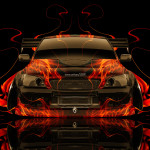 Toyota Altezza Tuning JDM Front Fire Abstract Car 2014