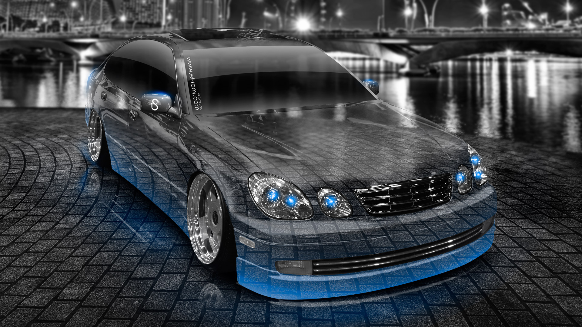 ... Toyota Aristo JDM Crystal City Car 2014 Blue  ...