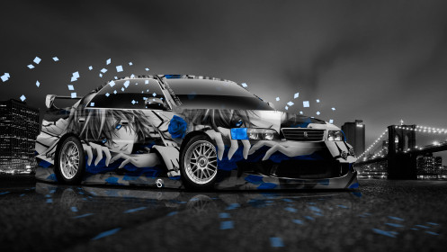 Toyota-Chaser-JZX100-JDM-Anime-Aerography-City-Car-2014-Blue-Colors-HD-Wallpapers-design-by-Tony-Kokhan-[www.el-tony.com]