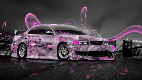 Toyota-Chaser-JZX100-JDM-Anime-Aerography-City-Car-2014-Pink-Colors-HD-Wallpapers-design-by-Tony-Kokhan-[www.el-tony.com]