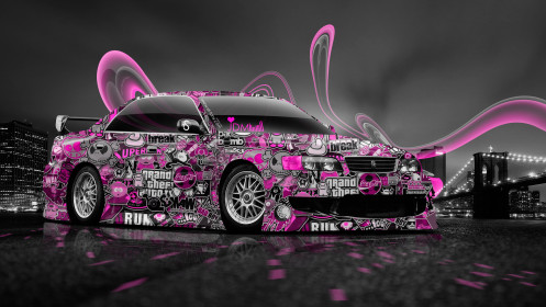 Toyota-Chaser-JZX100-JDM-Style-Aerography-City-Car-2014-Pink-Colors-HD-Wallpapers-design-by-Tony-Kokhan-[www.el-tony.com]