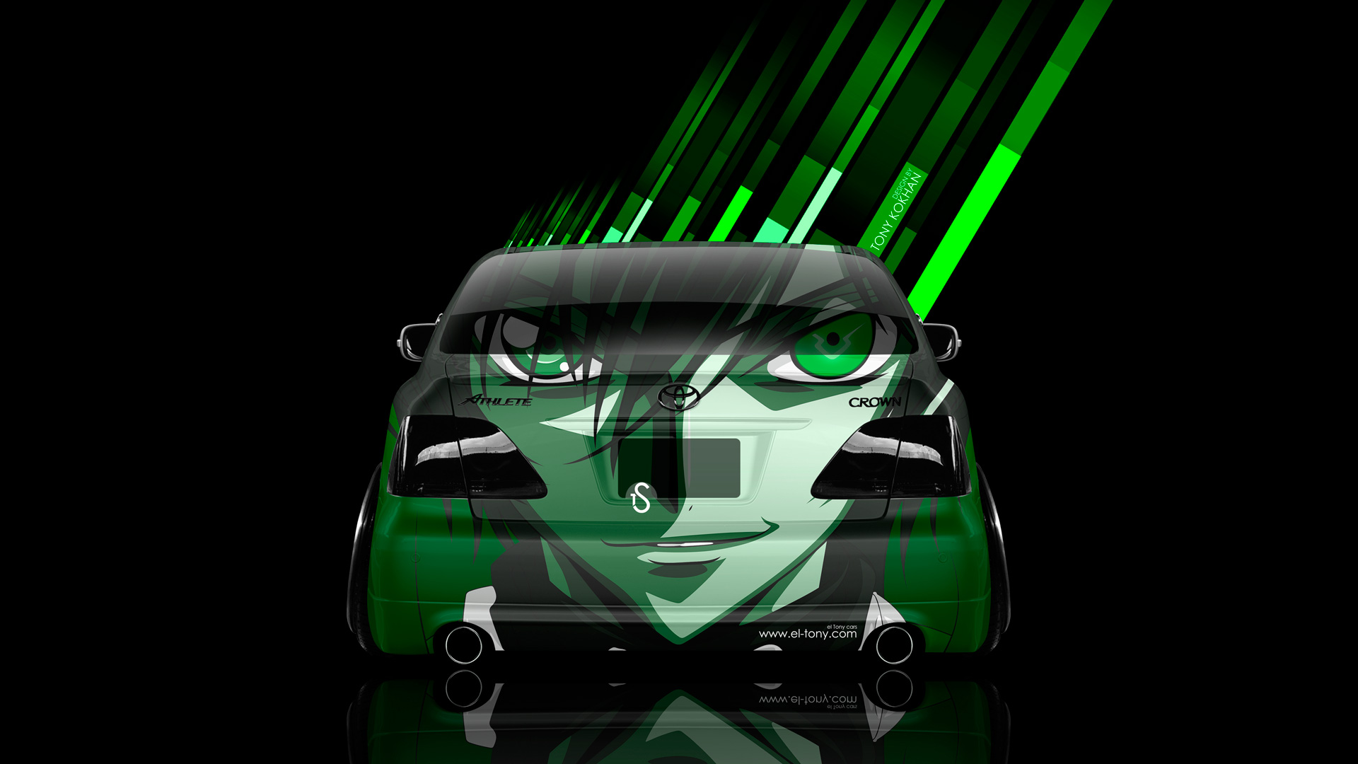 Toyota-Crown-Athlete-JDM-Back-Anime-Aerography-Car-2014-Green-Colors-HD-Wallpapers-design-by-Tony-Kokhan-[www.el-tony.com]