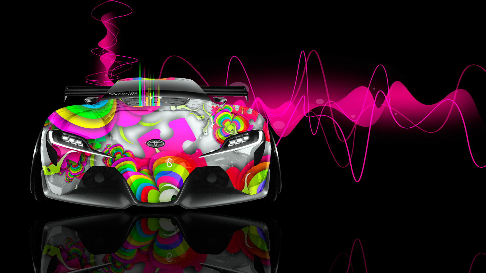 Toyota FT 1 Front Abstract Aerography Car 2014