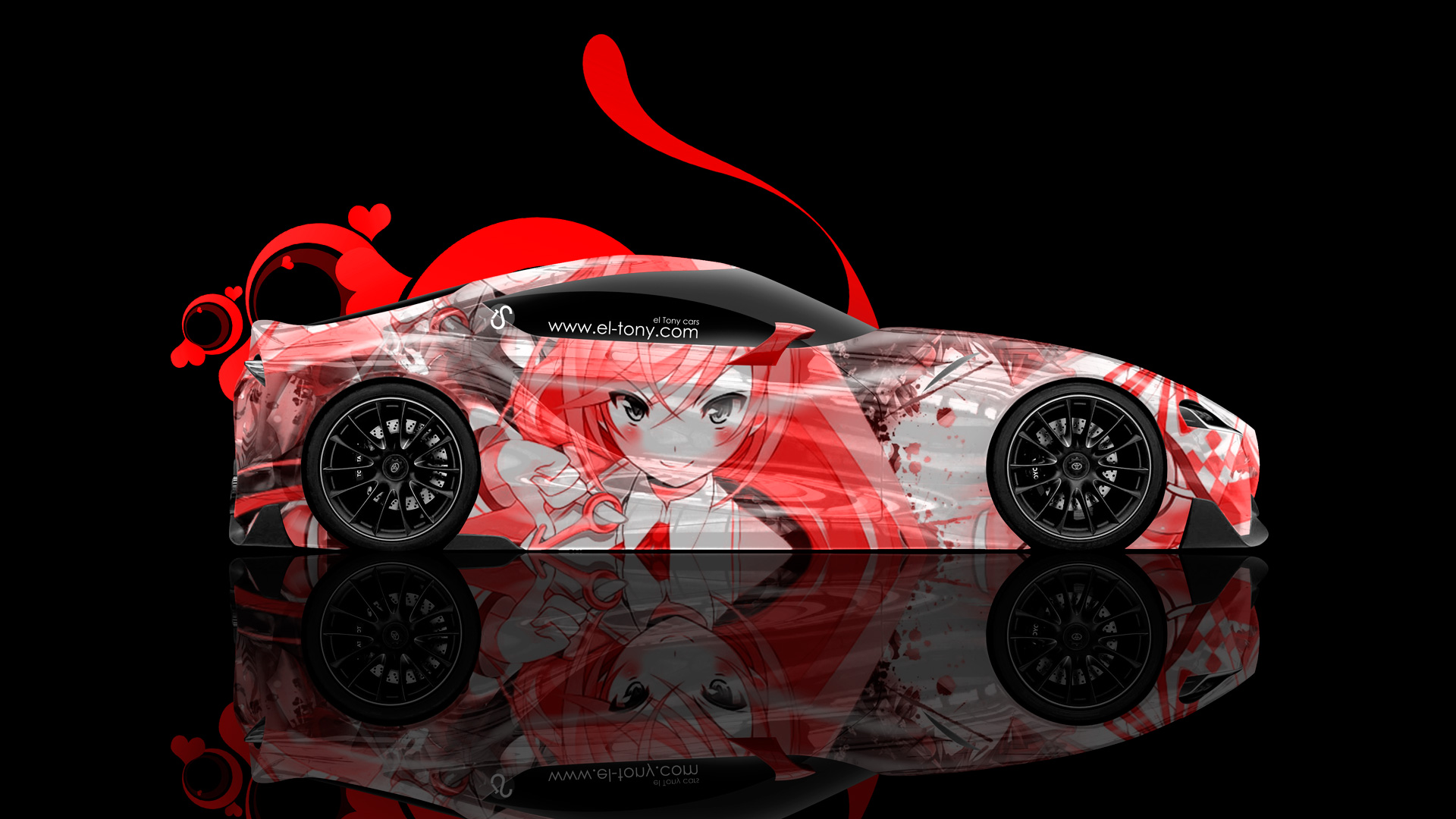 Toyota ft 1 Side Anime