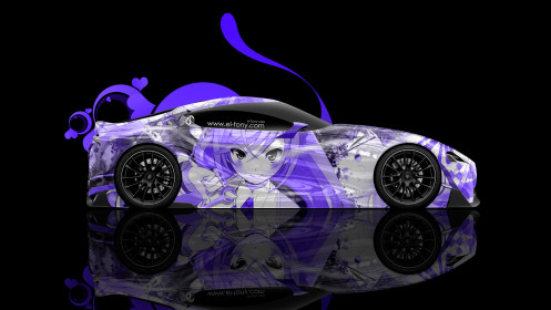 Toyota-FT-1-Side-Anime-Aerography-Girl-Car-2014-Photoshop-Violet-Colors-HD-Wallpapers-design-by-Tony-Kokhan-[www.el-tony.com]