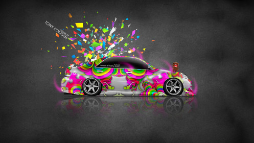 Toyota-Mark-2-JZX110-JDM-Style-Side-Domo-Kun-Toy-Car-2014-Multicolors-HD-Wallpapers-design-by-Tony-Kokhan-[www.el-tony.com]