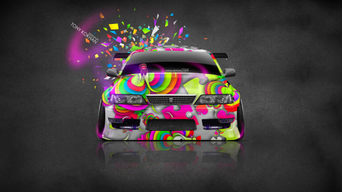 Toyota-Mark2-JZX100-JDM-Front-Domo-Kun-Toy-Car-2014-Multicolors-HD-Wallpapers-design-by-Tony-Kokhan-[www.el-tony.com]