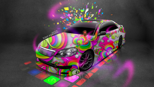 Toyota-Mark2-JZX110-JDM-Style-Domo-Kun-Toy-Car-2014-Multicolors-HD-Wallpapers-design-by-Tony-Kokhan-[www.el-tony.com]