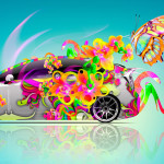 Toyota Prius Fantasy Flowers Butterfly Car 2014