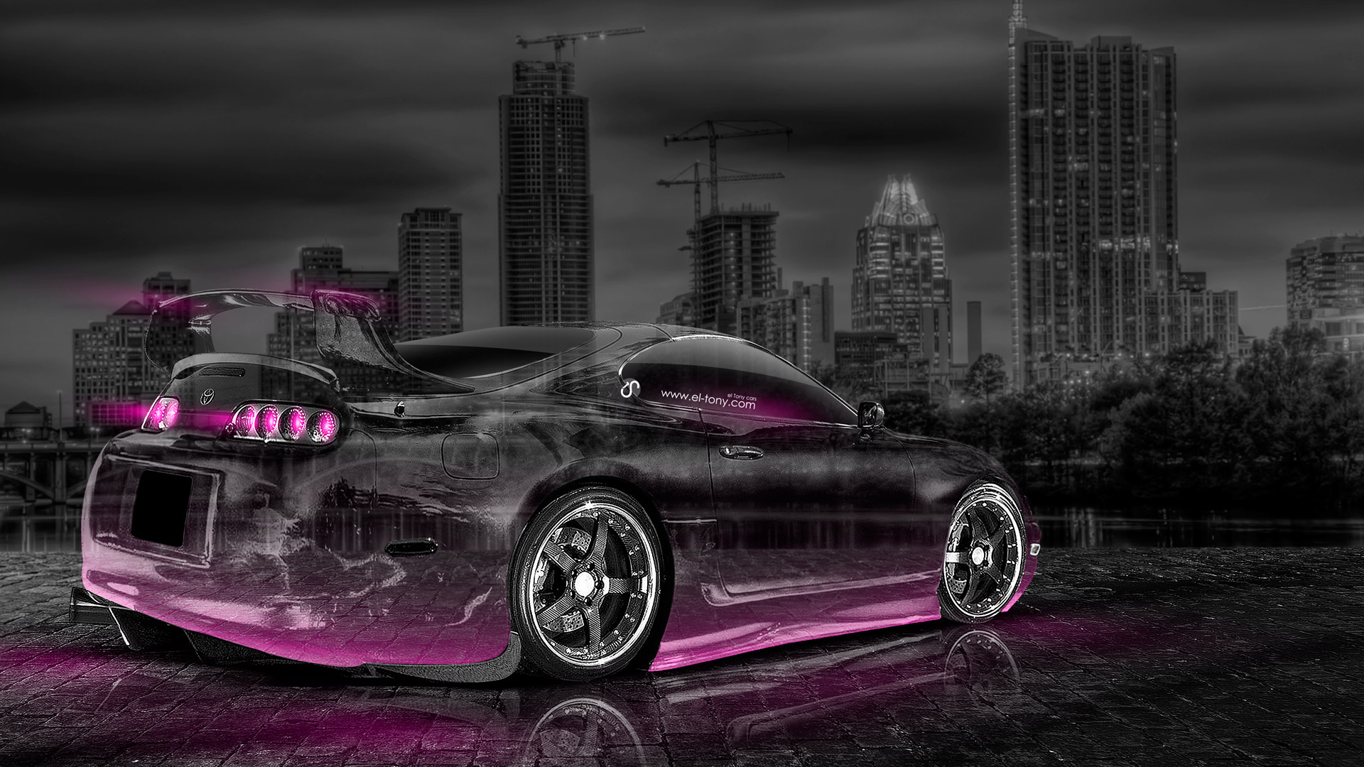 Amazing Toyota Supra JDM Crystal City Car 2014 Pink