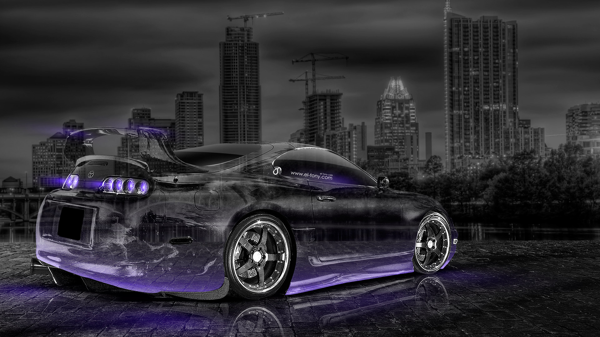 Bon Toyota Supra JDM Crystal City Car 2014 Violet .