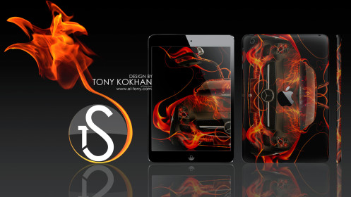 el-Tony-Apple-IPad-4-Fire-Style-Cover-Wallpapers-Mercedes-Benz-SLS-AMG-2014-design-by-Tony-Kokhan-[www.el-tony.com]