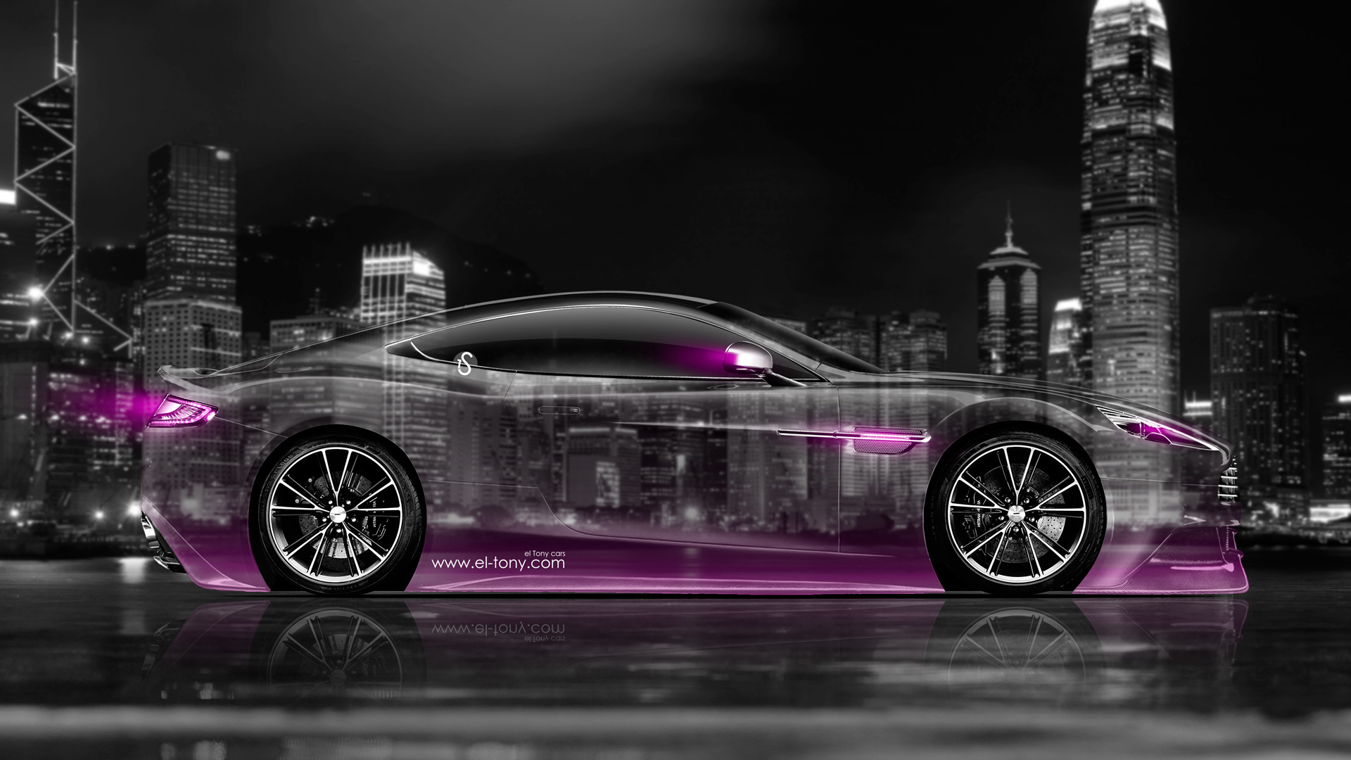 Captivating Aston Martin Vanquish Side Crystal City Car 2014  ...