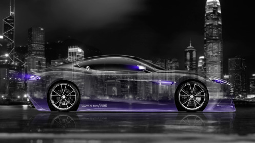 Aston-Martin-Vanquish-Side-Crystal-City-Car-2014-Violet-Neon-HD-Wallpapers-design-by-Tony-Kokhan-[www.el-tony.com]