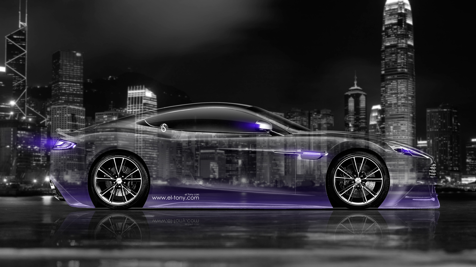 Charmant Aston Martin Vanquish Side Crystal City Car 2014