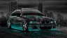BMW-M3-Crystal-City-Car-2014-Azure-Neon-HD-Wallpapers-design-by-Tony-Kokhan-[www.el-tony.com]