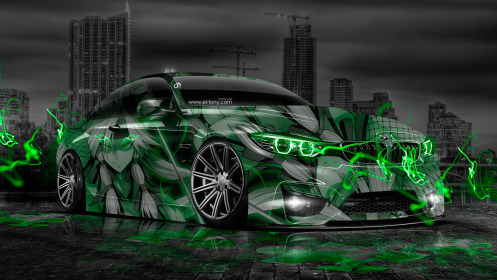 BMW-M4-Anime-Aerography-City-Car-2014-Photoshop-Green-Neon-Effects-HD-Wallpapers-design-by-Tony-Kokhan-[www.el-tony.com]