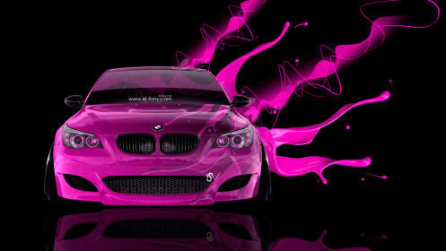 BMW-M5-Front-Live-Colors-Car-2014-Pink-Effects-HD-Wallpapers-design-by-Tony-Kokhan-[www.el-tony.com]