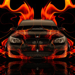 BMW M5 Front Super Fire Abstract Car 2014