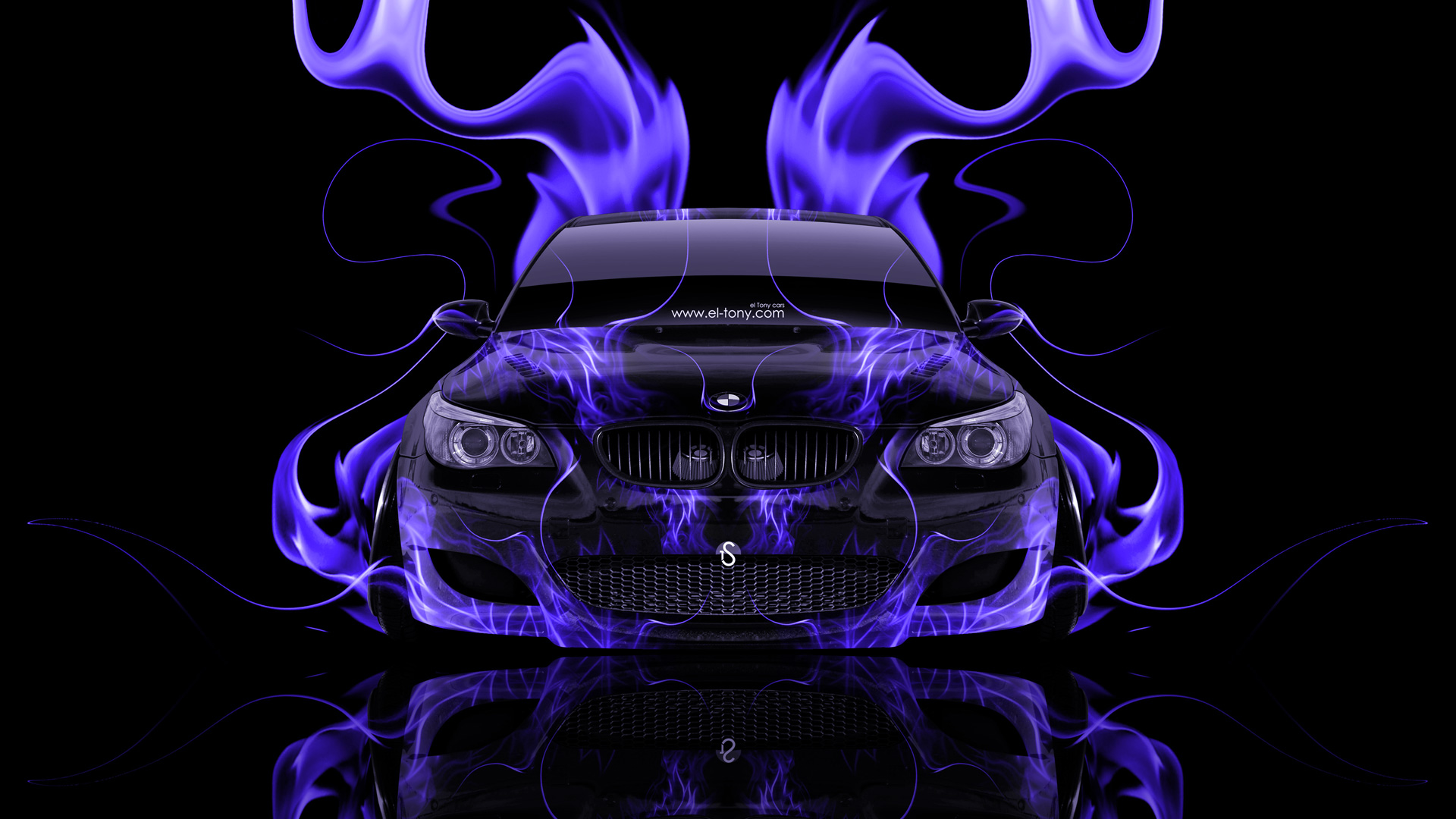 BMW M5 Front Super Fire Abstract Car 2014 | el Tony