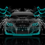 BMW M5 Front Super Water Abstract Car 2014