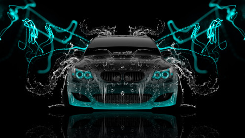 BMW-M5-Front-Super-Water-Abstract-Car-2014-Azure-Neon-HD-Wallpapers-design-by-Tony-Kokhan-[www.el-tony.com]