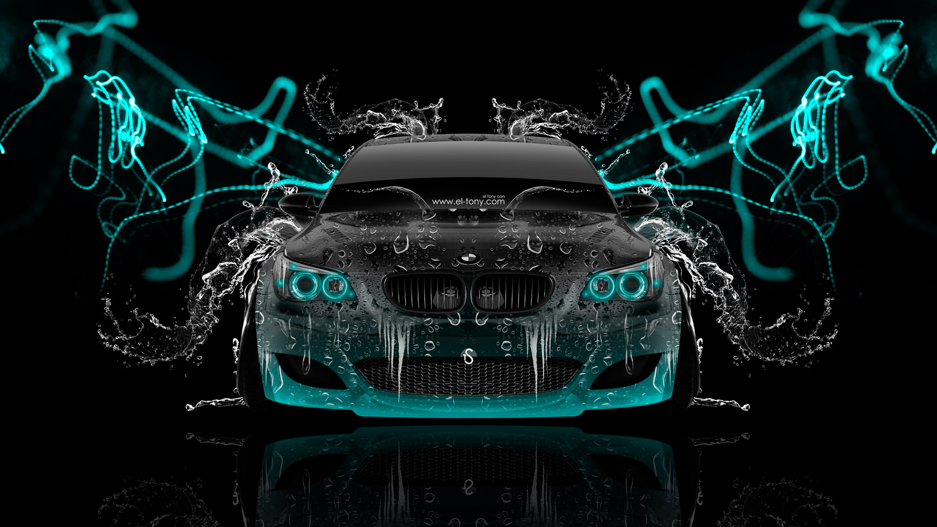 ... BMW M5 Front Super Water Abstract Car 2014