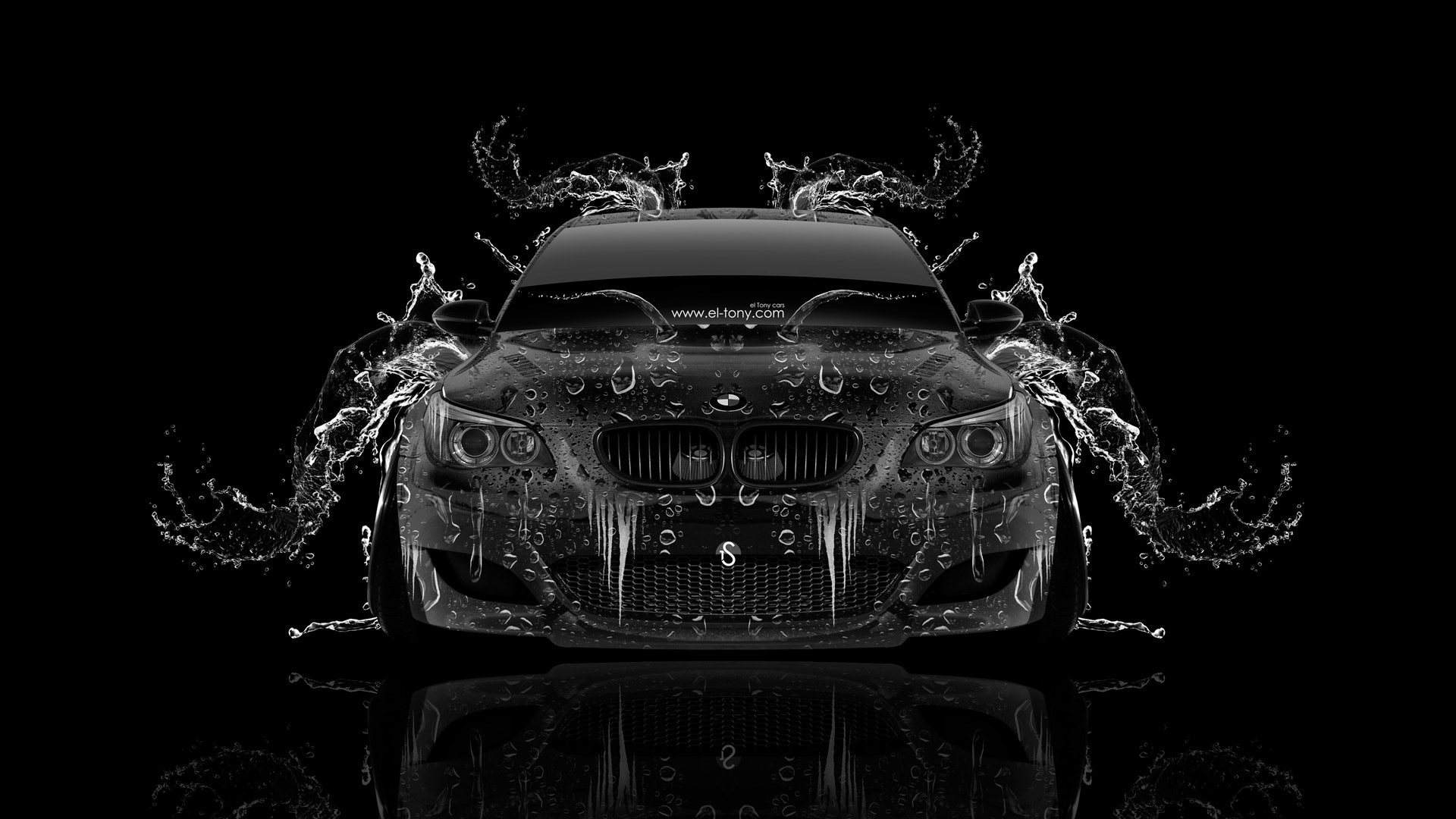 Charming BMW M5 Front Super Water Abstract Car 2014
