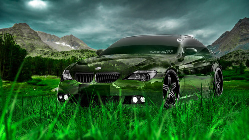 BMW-M6-Hamann-Tuning-Crystal-Nature-Car-2014-Green-Grass-HD-Wallpapers-design-by-Tony-Kokhan-[www.el-tony.com]