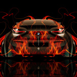 BMW i8 Back Fire Abstract Car 2014