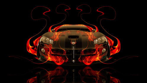 Dodge-Viper-SRT-Front-Fire-Abstract-Car-2014-Photoshop-HD-Wallpapers-design-by-Tony-Kokhan-[www.el-tony.com]