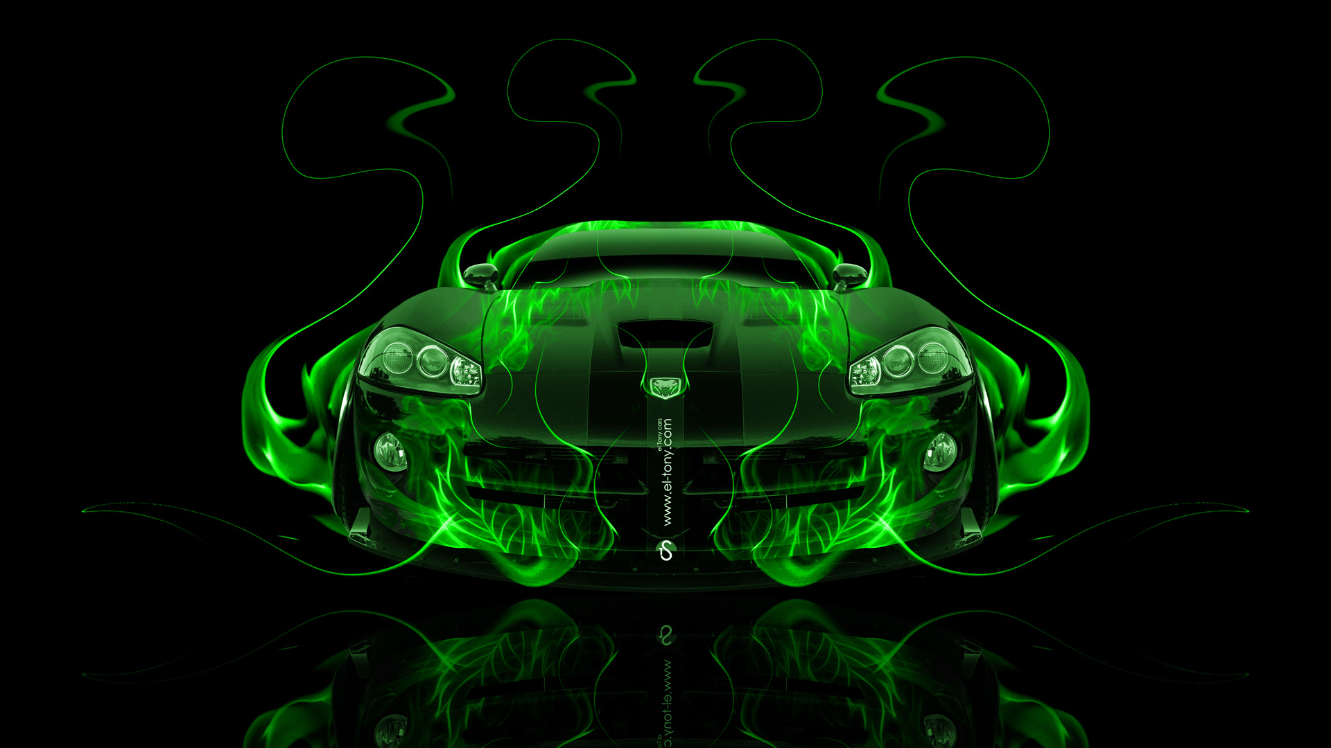 Mitsubishi Eclipse 2016 >> Dodge Viper SRT Front Fire Abstract Car 2014 | el Tony