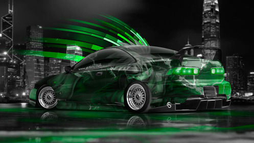 Honda-Integra-JDM-Anime-Aerography-City-Car-2014-Green-Neon-Effects-HD-Wallpapers-design-by-Tony-Kokhan-[www.el-tony.com]