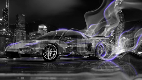 Honda-NSX-JDM-Crystal-City-Plastic-Smoke-Drift-Car-2014-Violet-Neon-HD-Wallpapers-design-by-Tony-Kokhan-[www.el-tony.com]