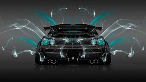 Honda-S2000-JDM-Back-Smoke-Car-2014-Azure-Neon-HD-Wallpapers-design-by-Tony-Kokhan-[www.el-tony.com]