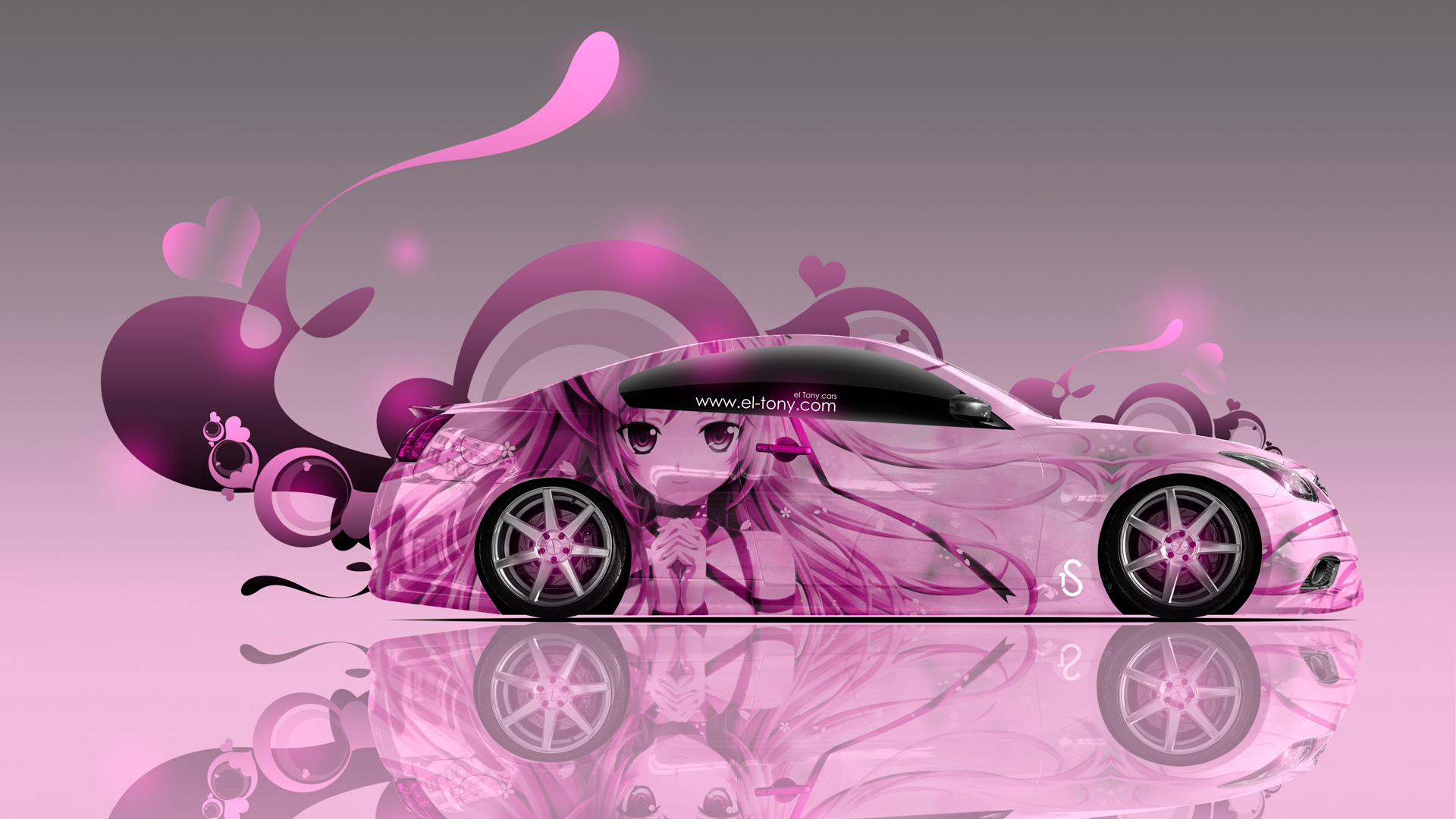 Infiniti-G37-Side-Anime-Aerography-Girl-Car-2014-Pink-Soft-Image-HD-Wallpapers-design-by-Tony-Kokhan-[www.el-tony.com]