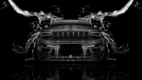 Jeep-Grand-Cherokee-SRT8-Front-Water-Car-2014-Photoshop-HD-Wallpapers-design-by-Tony-Kokhan-[www.el-tony.com]