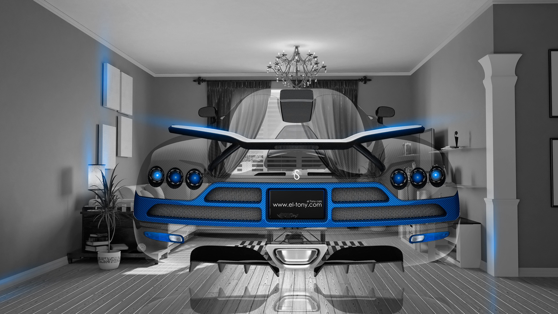 Elegant ... Koenigsegg CCXR Back Up Fantasy Crystal Home Fly  ...