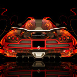 Koenigsegg CCXR BackUp Fire Abstract Car 2014