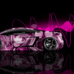 Lamborghini Gallardo Side Anime Girl Aerography Car 2014