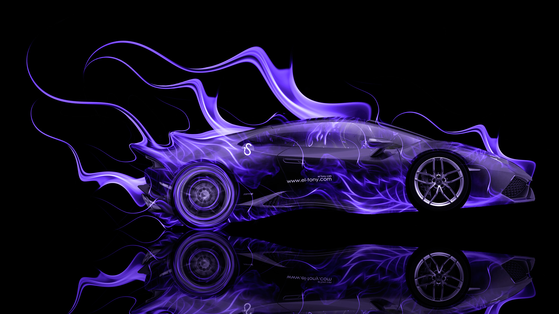 Attractive Lamborghini Huracan Side Violet Fire Abstract Car 2014  ...