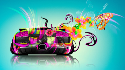 Lamborghini-Murcielago-Back-Fantasy-Flowers-Butterfly-Plastic-Car-2014-Multicolors-Image-design-by-Tony-Kokhan-[www.el-tony.com]
