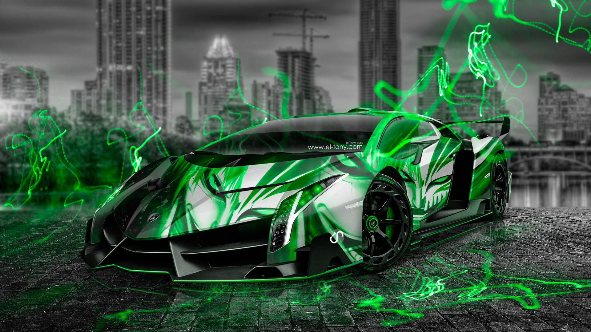 Lamborghini Veneno Anime Bleach Aerography City Car 2014